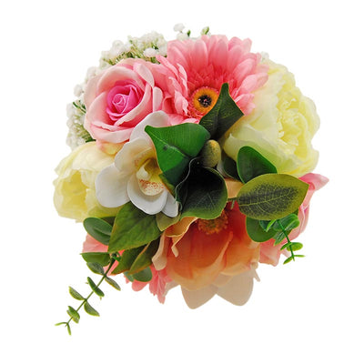 Bridesmaids Orchid, Gerbera, Peony, Pink Rose & Gypsophila Wedding Bouquet
