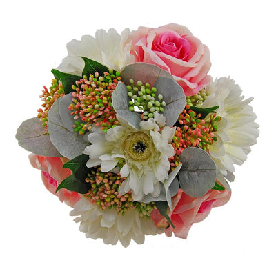 Bridesmaids Wedding Bouquet Berries, Grey Eucalyptus, Gerbera & Gypsophila