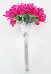 Bridesmaids Cerise Pink Silk Gerbera Wedding Posy