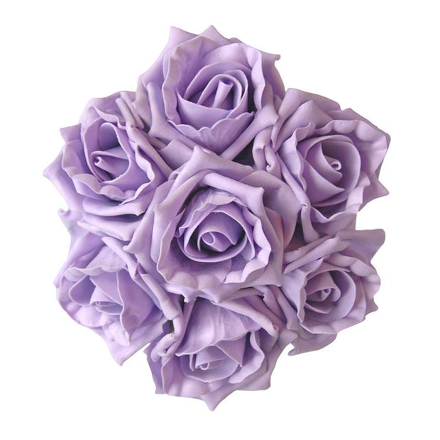 Childrens Lilac Foam Rose Flower Girl Wedding Posy