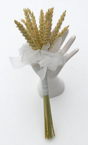 Dried Wheat Bridesmaids Wedding Wand with Organza Ribbon