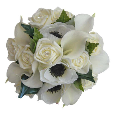 Bridesmaids Ivory Calla Lily, Anemone & Rose Wedding Posy