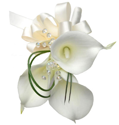 Ivory Calla Lily & Crystal Flower Girl Wedding Posy
