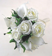 Ivory Casablanca & Calla Lily, Rose Bridesmaids Wedding Bouquet