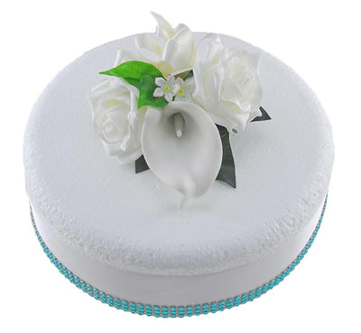 Ivory Calla Lily, Stephanotis & Rose Wedding Cake Spray