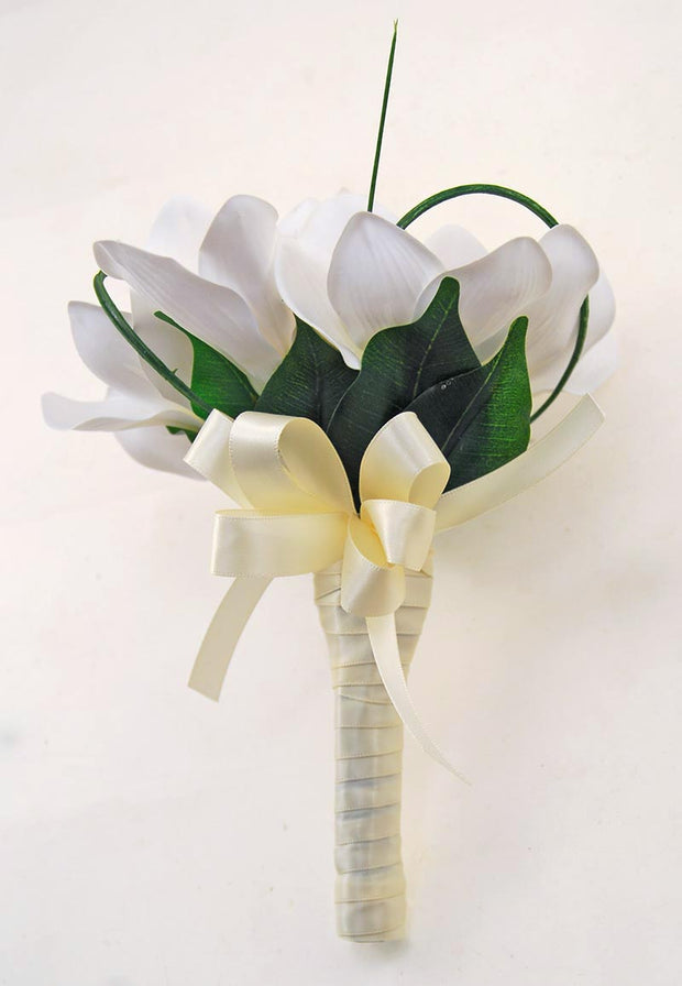 Ivory Silk Cymbidium Orchid Flower Girl Wedding Posy