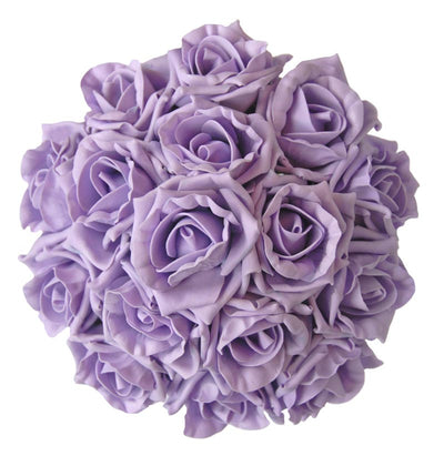 Bridesmaids Lilac Foam Rose Wedding Posy Bouquet
