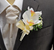 Brides Pink Tiger Lily, Hydrangea & Ivory Silk Peony Wedding Bouquet