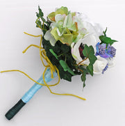 Young Bridesmaids Meadow Style Artificial Wedding Posy Bouquet