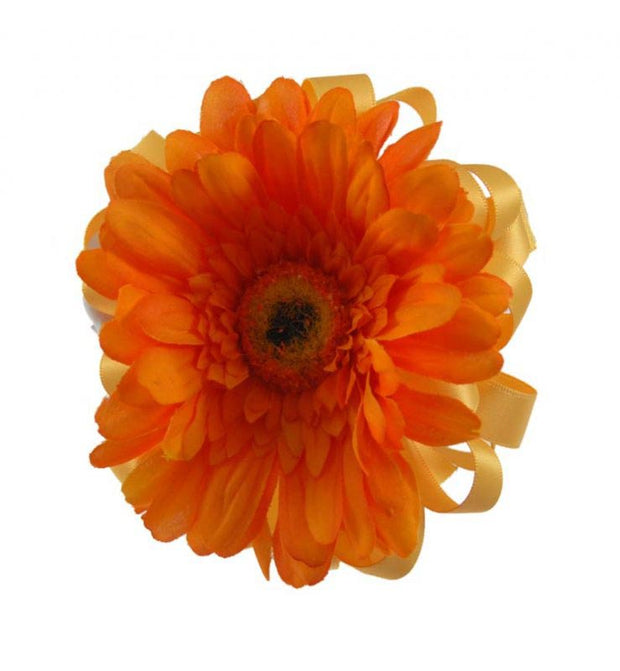 Bridesmaids Orange Silk Gerbera Flower Girl Wedding Wand