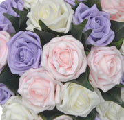 Bridesmaids Lilac, Ivory & Light Pink Rose Wedding Posy