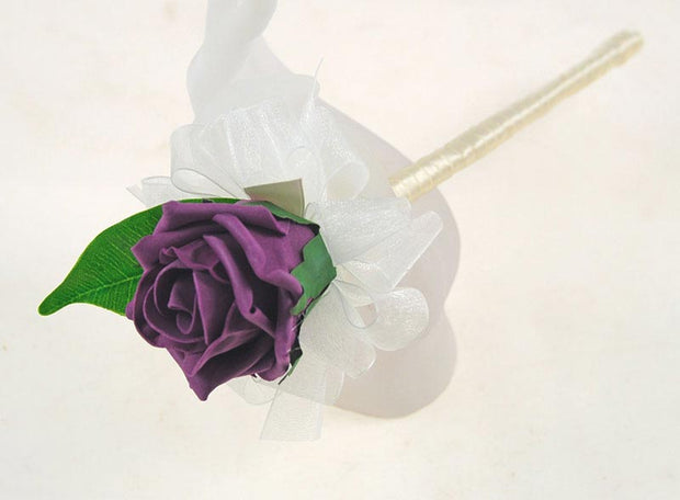 Flower Girls Assorted Colour Foam Rose Wedding Wand