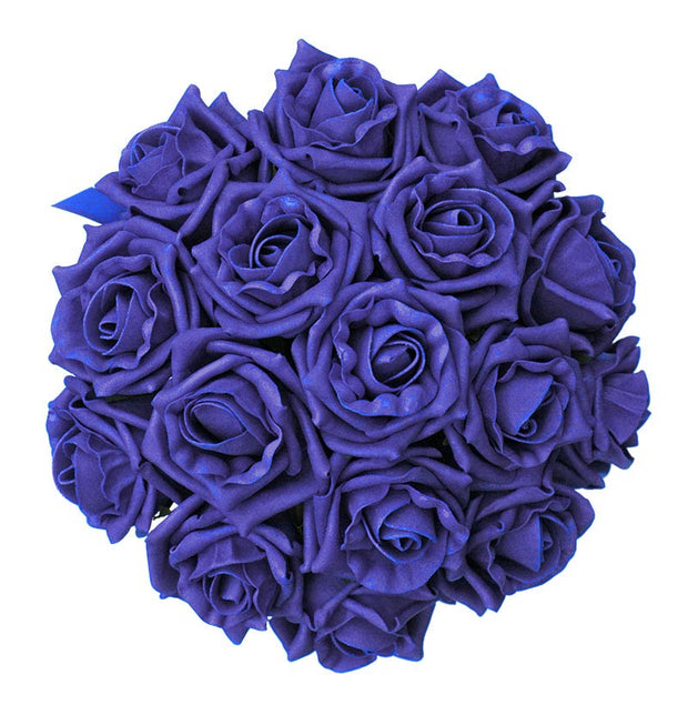 Bridesmaids Royal Blue Foam Rose Wedding Posy Bouquet