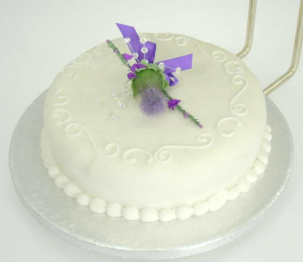 Scottish Thistle, Crystal & Ivory Rose Wedding Cake Sprays