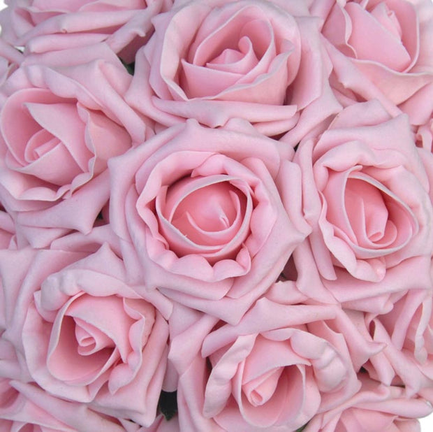 Bridesmaids Vintage Pink Foam Rose Wedding Posy Bouquet