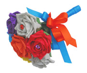 Flower Girls Colourful Diamante Foam Rose Wedding Posy