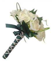Bridesmaids Artificial Ivory Calla Lily & Rose Wedding Bouquet