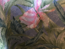 Load image into Gallery viewer, Tote Bag: Pale blue linen with blue, green, pink silky floral lining