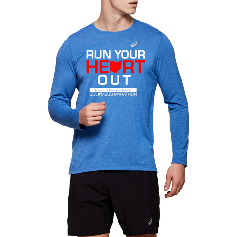 ASICS Men's Run Your Heart Out Long Sleeve Tech Tee