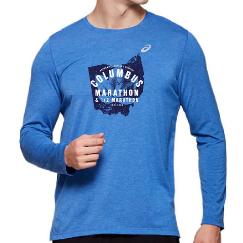 ASICS Men's Buckeye State Long Sleeve Tech Tee