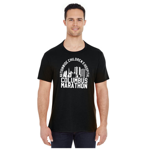 Men's Columbus Skyline Cotton/Poly Tee