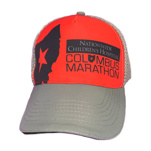 Columbus Marathon Red/Grey Trucker Hat