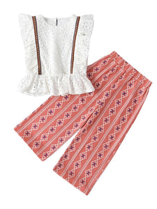 CLARA Boho Set for Baby Girl in the style of Austrian Dirndl