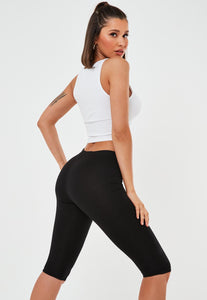 MISSGUIDED Black crop lenght Jersey leggings