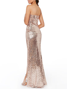 HOLLYWOOD Rose- gold Evening Gown