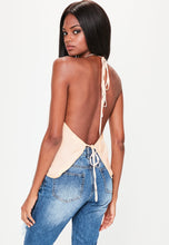 Load image into Gallery viewer, MISSGUIDED Halter Tie back cami