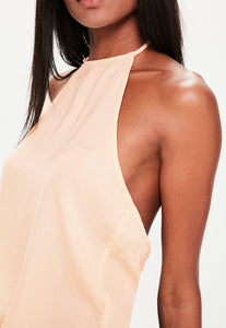 MISSGUIDED Halter Tie back cami