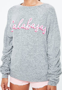 MISSGUIDED Calabasas Slogan Brushed sweater