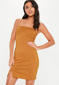MISSGUIDED Cami bodycon dress plain