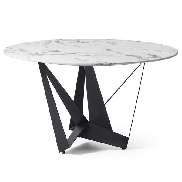 Radiance Round Dining Table Marble Black