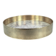 The Orbit Tray -Small White Marble/Diamond Pattern Brass