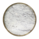 The Orbit Tray - White Marble / Diamond Pattern Brass