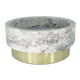 The Fox Bowl – Large White Marble Polished Brass