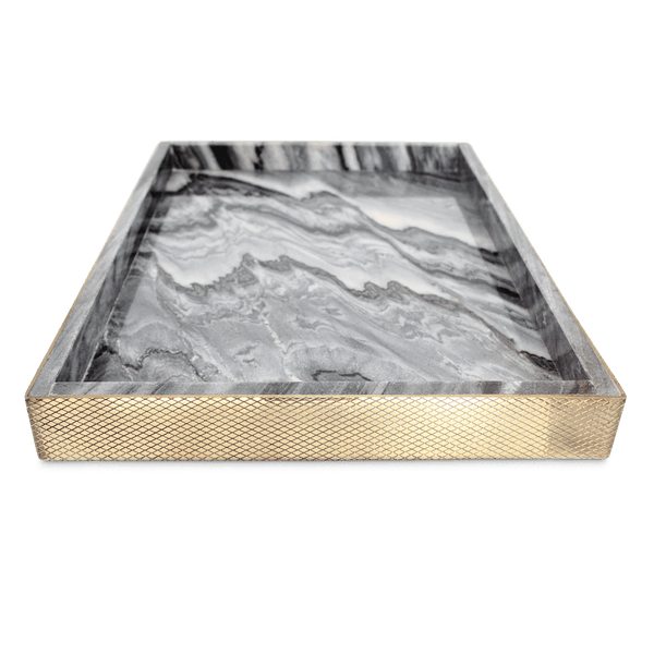 The Fox Tray - Smokey Marble