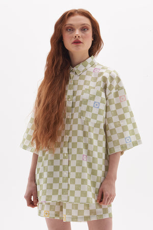 Organic Cotton Checkerboard Shirt
