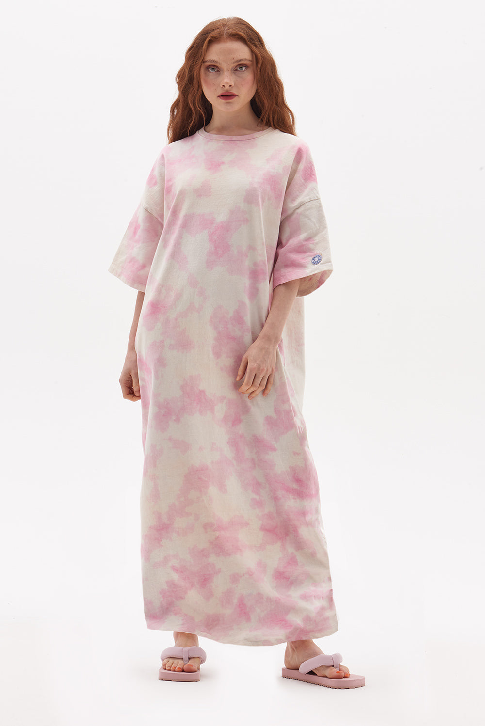 Organic Tie Dye T-Shirt Maxi Dress