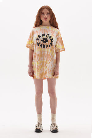 Organic Cotton Flower Tie Dye T-Shirt Dress