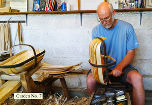 Sussex Garden Trug No. 7, being made in our workshop in Herstmoncuex from traditional, sustainable materials