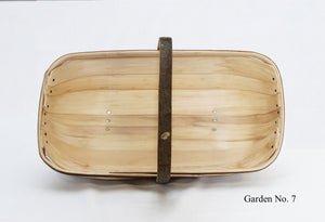Sussex Garden Trug No. 7 (half bushel), top view,, made from traditional, sustainable materials in Herstmonceux
