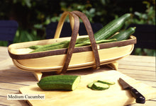 Load image into Gallery viewer, Medium cucumber trug. Hand-made in Herstmonceux.