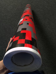 Red Digital Camo / Camouflage Vinyl Wrap