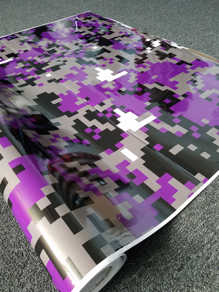 b61912c426 Purple Digital Camo   Camouflage Vinyl Wrap – Sign Something