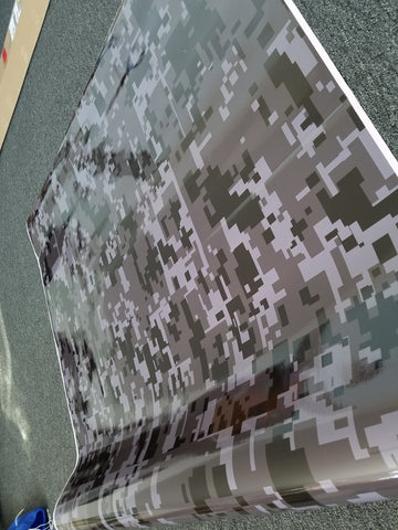 Grey Digital Camo / Camouflage Vinyl Wrap