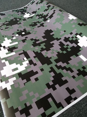 Army Green Digital Camo / Camouflage Vinyl Wrap