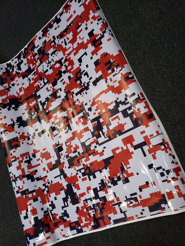 Red, White & Blue Digital Camo / Camouflage Vinyl Wrap