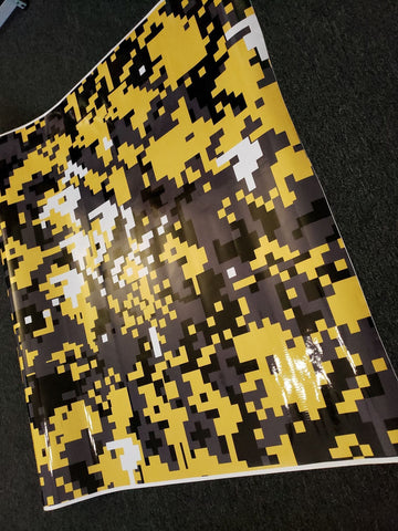 Yellow Digital Camo / Camouflage Vinyl Wrap